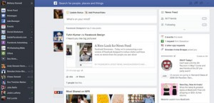 Facebook-Feed nouvelle mise as jour